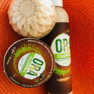 ORA coffee soap and Lotion